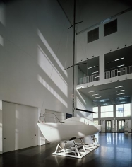 Untitled (Installation View of Sailboat)