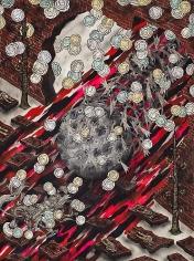 Andrew Schoultz, Rolling Orb (Bowing Men) (2013)