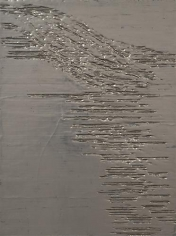 Nancy Lorenz, Blackened Silver, Cardboard I (2013)