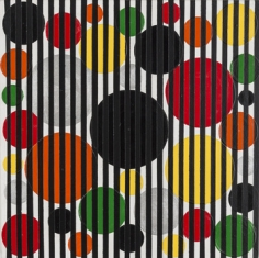 Rico Gatson, Untitled (Colorful Dots and Black Lines), 2016