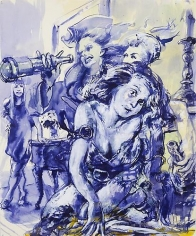 Thirst (2011) Ink, Watercolor, Pastel On Paper