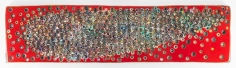 TOUCHINGFROMADISTANCEFURTHERALLTHETIME, 2016, Epoxy resin and pigments on wood, 24 x 96 inches, 61 x 243.8 cm, AMY#28086
