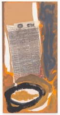 The Times in Havana, 1979-80, Acrylic and pasted papers on canvas board, 24 x 12 inches, 61 x 30.5 cm, MMG#8006