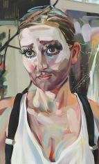 """""""Fool, Seer, MFA Grad (Kyla),"""" 2011, Oil on canvas, 48 x 29 inches, 121.9 x 73.7 cm, A/Y#19919"""