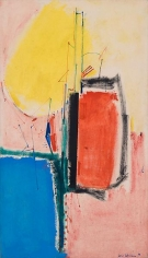 """Composition No. 1,"" 1953, Oil on linen on board, 84 x 48 inches, 213.4 x 121.9 cm, A/Y#1723"