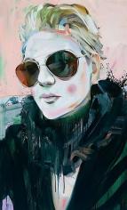"""""""Fool, Seer, MFA Grad (Michelle),"""" 2011, Oil on canvas, 48 x 29 inches, 121.9 x 73.7 cm, A/Y#19948"""