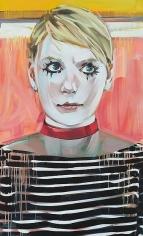 """""""Fool, Seer, MFA Grad (Elana),"""" 2011, Oil on canvas, 48 x 29 inches, 121.9 x 73.7 cm, A/Y#19917"""