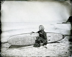 Joni Sternbach, Pleasure Point, Santa Cruz, #11 Zeuf, 2008, unique tintype, 8 x 10 inches