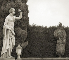 Figure, Blenheim Palace, from the series In the Garden, platinum print, 16 x 18 1/2 inches