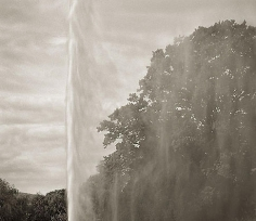 Fountain, Stanway, from the series In the Garden, 2004, platinum print, 16 x 18 1/2 inches