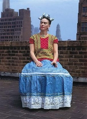 Frida Kahlo in New York City (on rooftop), 1939