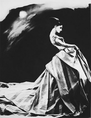 """""""Night Bloom"""", Ball Gown by Haute Couture Givenchy by John Galliano, Anneliese Seubert, Paris, The New York Times Magazine, March 31, 1996, gelatin silver print, 14 x 11 inches"""