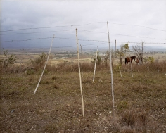 Barbed Wire Laundry Lines at La YaYa, Santa Clara, Cuba, 2004