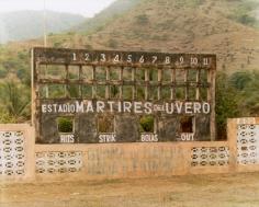 Baseball Scoreboard, Estadio Mártires del Uvero 2004, chromogenic print