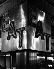 "Wayne Sorce, ""Eat,"" Chicago IL, 1970 vintage gelatin silver print, 9 x 11 1/2 inches"