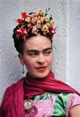 Frida in Pink & Green Satin Blouse