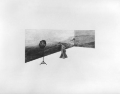 Debutant, 2005 27 x 35 inch Graphite on paper