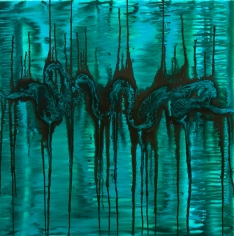 Charmaine Davis  Water Spirit, 2018  Acrylic on canvas  90h x 90w cm artwork
