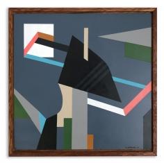 Greg Hodgson  Sloped penthouse from distance, 2019 art