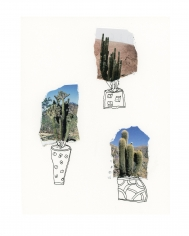 Michael Stiegler  Three Cactus (unframed), 2019 art from the exhibition on Bowery at Lone Goat Gallery