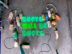 Hannah Cutts  Buoys Will Be Buoys, 2020 neon