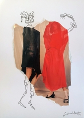 Michael Stiegler  Red and Black Dress, 2019 art from the exhibition on Bowery at Lone Goat Gallery
