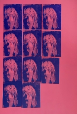 Michael Stiegler  Kate Moss Pink, 2019 art from the exhibition on Bowery at Lone Goat Gallery
