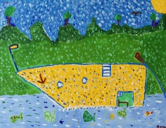 Keith Nielson  Yellow Boat, 2019 Artwork