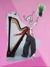 Michael Stiegler  Plant Music, 2019, collage artwork from the exhibition On Bowery