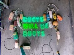 Hannah Cutts  Buoys Will Be Buoys, 2020 neon