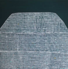 Mountain Green, 2020  Acrylic on canvas  92h x 92w cm artwork
