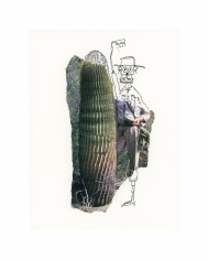 Michael Stiegler  Cactus Dude (unframed), 2019 art from the exhibition on Bowery at Lone Goat Gallery