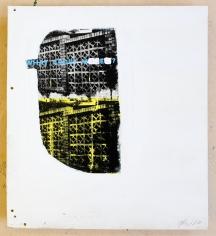 Jacob Boylan  What About Me, 2020  Silk Screen on Ply Wood  61h x 55w cm