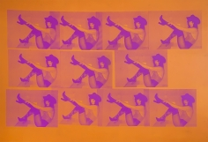 Michael Stiegler  Georgia Orange and Pink, 2019 art from the exhibition on Bowery at Lone Goat Gallery