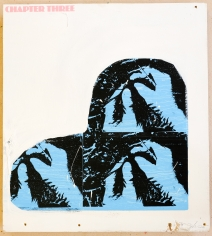 Jacob Boylan  Chapter Three, 2020  Silk Screen on Ply Wood  61h x 54w cm