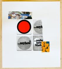 Jacob Boylan  Anyhow, 2020  Collage, silkscreen on paper  50h x 44w cm