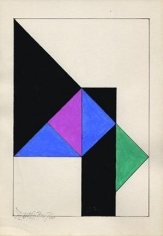 Hugo De Marziani, Untitled, 1960. Tempera on paper, 20 x 14 cm.