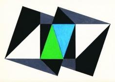 Hugo de Marziani, Untitled, 1959. Tempera on paper, 9.1 in. x 12.2 in.