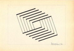 Hugo De Marziani, Untitled, 1958. Ink on paper, 16 x 23 cm.