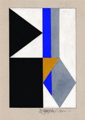 Hugo De Marziani, Untitled, 1960. Tempera on cardboard, 24 x 16 cm.