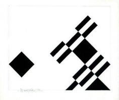 Hugo De Marziani, Untitled, 1959. Acrylic on paper, 18 x 22 cm.