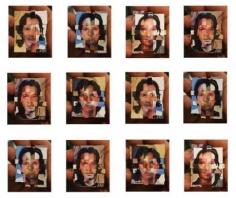 """Oscar Muñoz, El juego de las probabilidades, 2001/2008, 12 color photographs, Edition 5, 2 A/P, 16 7/8"""" x 14 1/2"""" each"""