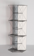 Mariano Dal Verme, Untitled (Tower), 2014. Graphite, paper, 11 3/4 in. x 4 in. x 4 in.
