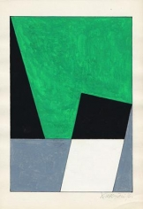 Hugo de Marziani, Untitled, 1960. Tempera on paper, 7.9 in. x 5.5 in.