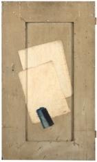 Alejandro Otero, Azul de China, seda de Corea [China Blue, Korean Silk], 1962. Mixed media on wood, 30 5/16 x 17 9/16 in.
