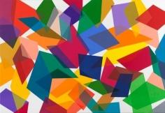 Graciela Hasper, Sin Titulo, 2014. Acrylic on canvas, 55 in. x 79 in.