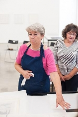 Printmaking Workshop with Marie Leterme. Sicardi Gallery, August 24, 2013.