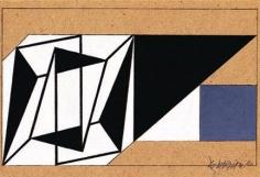 Hugo De Marziani, Untitled, 1960. Tempera on cardboard, 18 x 29 cm.