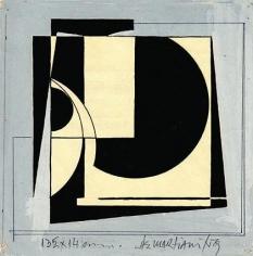 Hugo De Marziani, Untitled, 1959. Tempera on paper, 13 1/2 x 14 cm.