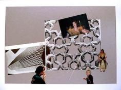 Kader Attia, Modern Architecture Genealogy #2, 2014. Collage, 16 1/4 in. x 22 1/4 in.